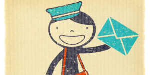 happy cartoon mail carrier for IMAP or POP email