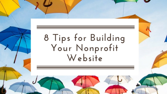 8 tips for building your nonprofit website, umbrellas