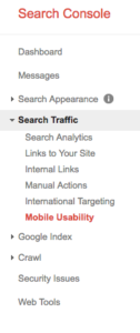 google search console webmaster tools mobile friendly nonprofit website