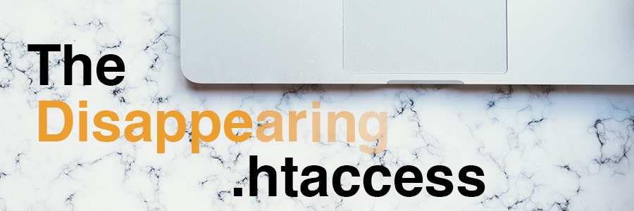 The Disappearing .htaccess header photo
