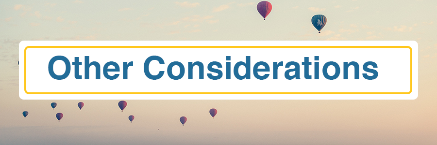 Other Considerations header image