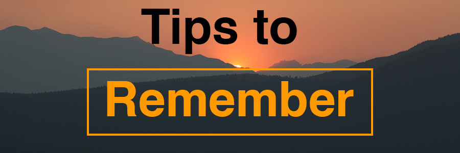 Tips to Remember Header image