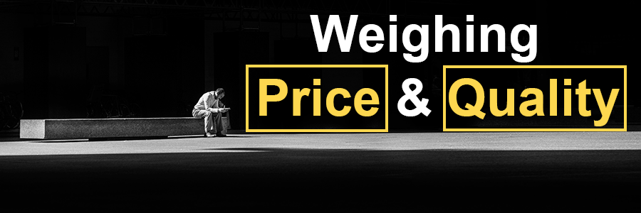 Weighing Price and Quality heading image