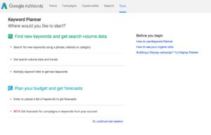 google adwords keyword planner screenshot