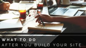 laptop remote work what to do after you build your site