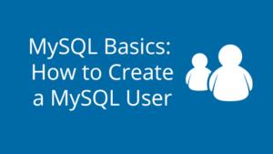 MySQL Basics How to Create a MySQL User