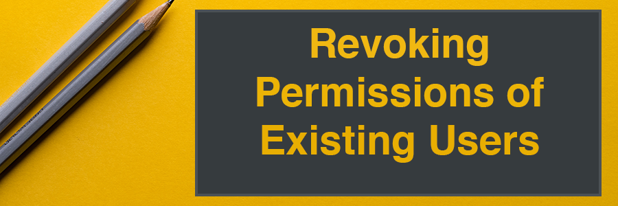 Revoking Permissions of Existing Users section header