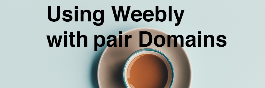 How to Use Weebly with pair Domains section header