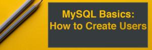 MySQL Basics Header Image