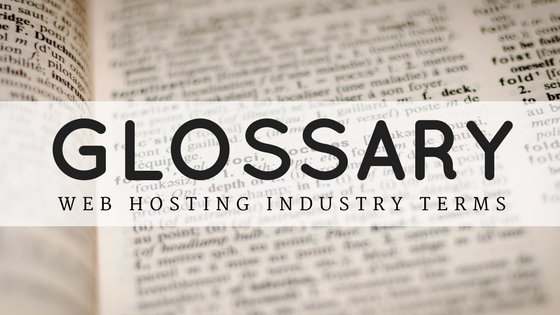 dictionary pages background for glossary of common web hosting industry terms
