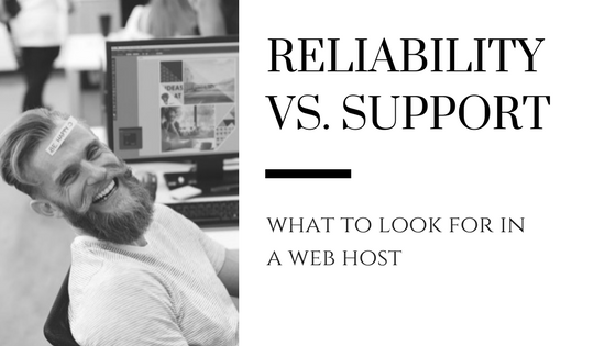 web hosting support vs reliability blog header