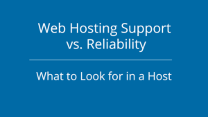 Web Hosting Support vs Reliability