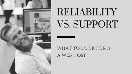 web hosting support vs reliable web hosting blog header