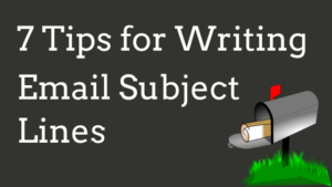 7 tips for writing email subject lines header graphic with mailbox