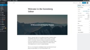 gutenberg visual editor