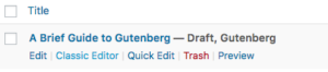 disable wordpress gutenberg