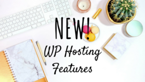 new wp hosting features from pair networks black text against trendy desk background