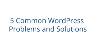 Common WordPress Problems and Solutions