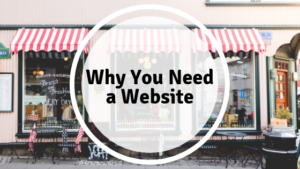 why you need a website text in front of a store front
