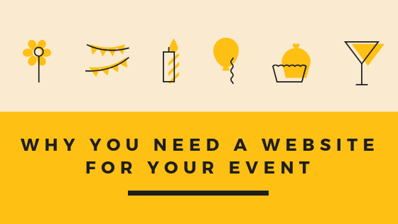 why you need a website for your event blog title graphic