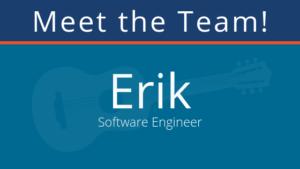 meet the team at pair: erik, software engineer