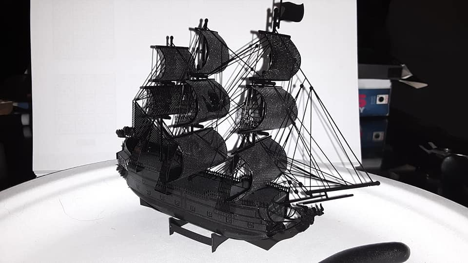 metal ship puzzle completed by jess, pair sales associate